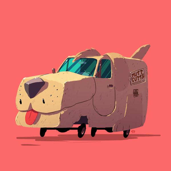ilustraciones autos películas dumbs