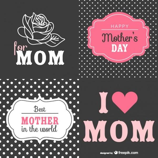 Tarjetas retro para día de las madres