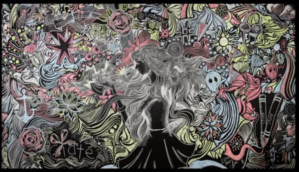 murales por Lizzie Cullen - Caite Chalkboard Manicure