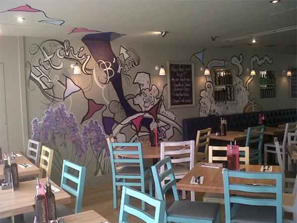 murales por Lizzie Cullen - Zizzi Italian Restaurant 3