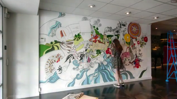 murales por Lizzie Cullen - graham and brown mural