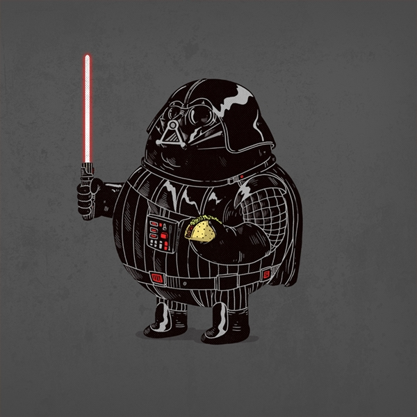 personajes gordos dark vader
