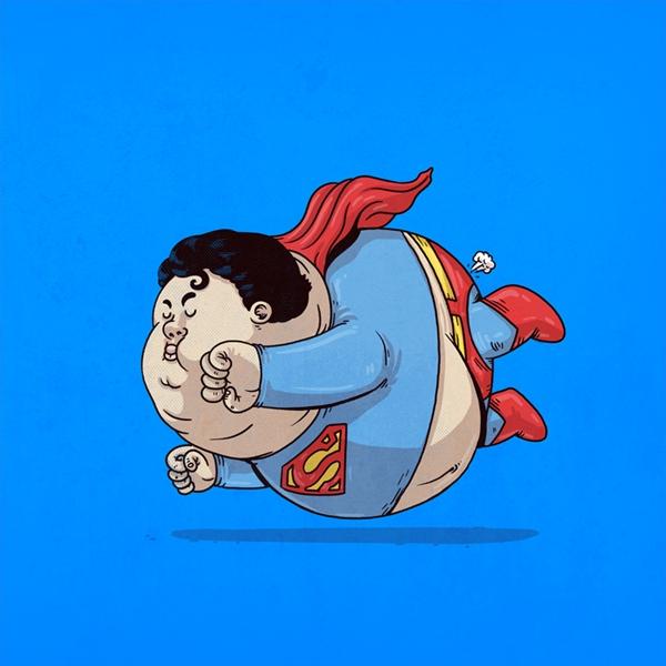 personajes gordos superman