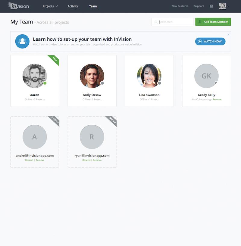 Invision una app para dise ar mockups y trabajar en - App para disenar ...