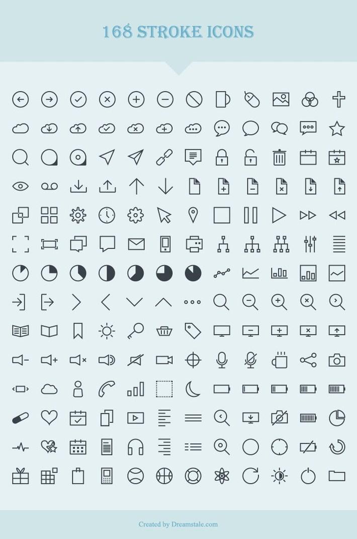 Stroke Icons, 168 Iconos