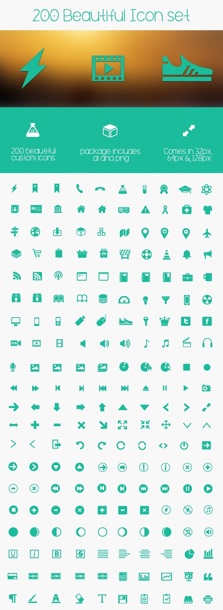 Metro Icons, 200 Iconos