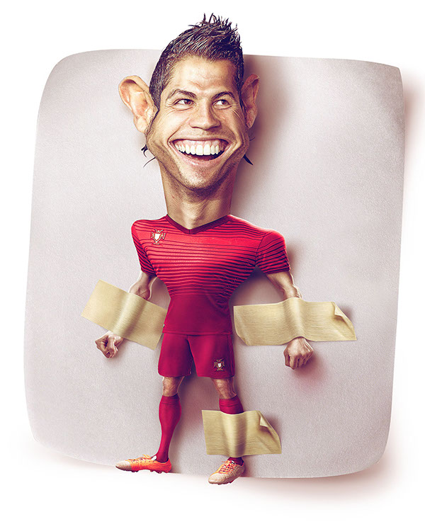 Caricatura CR7 German Alvarado