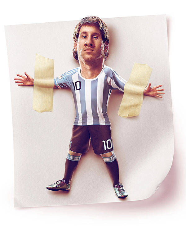 Caricatura Messi German Alvarado