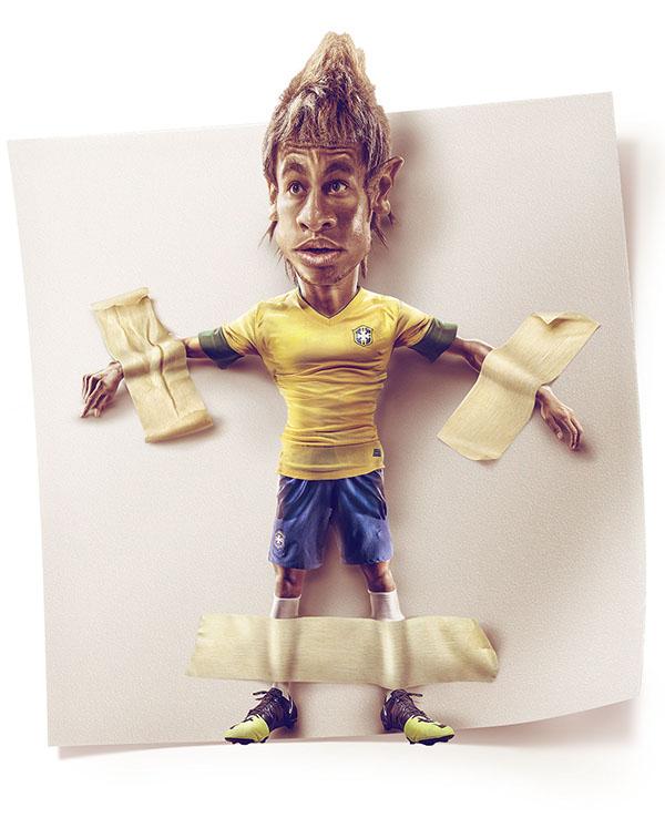 Caricatura Neymar German Alvarado