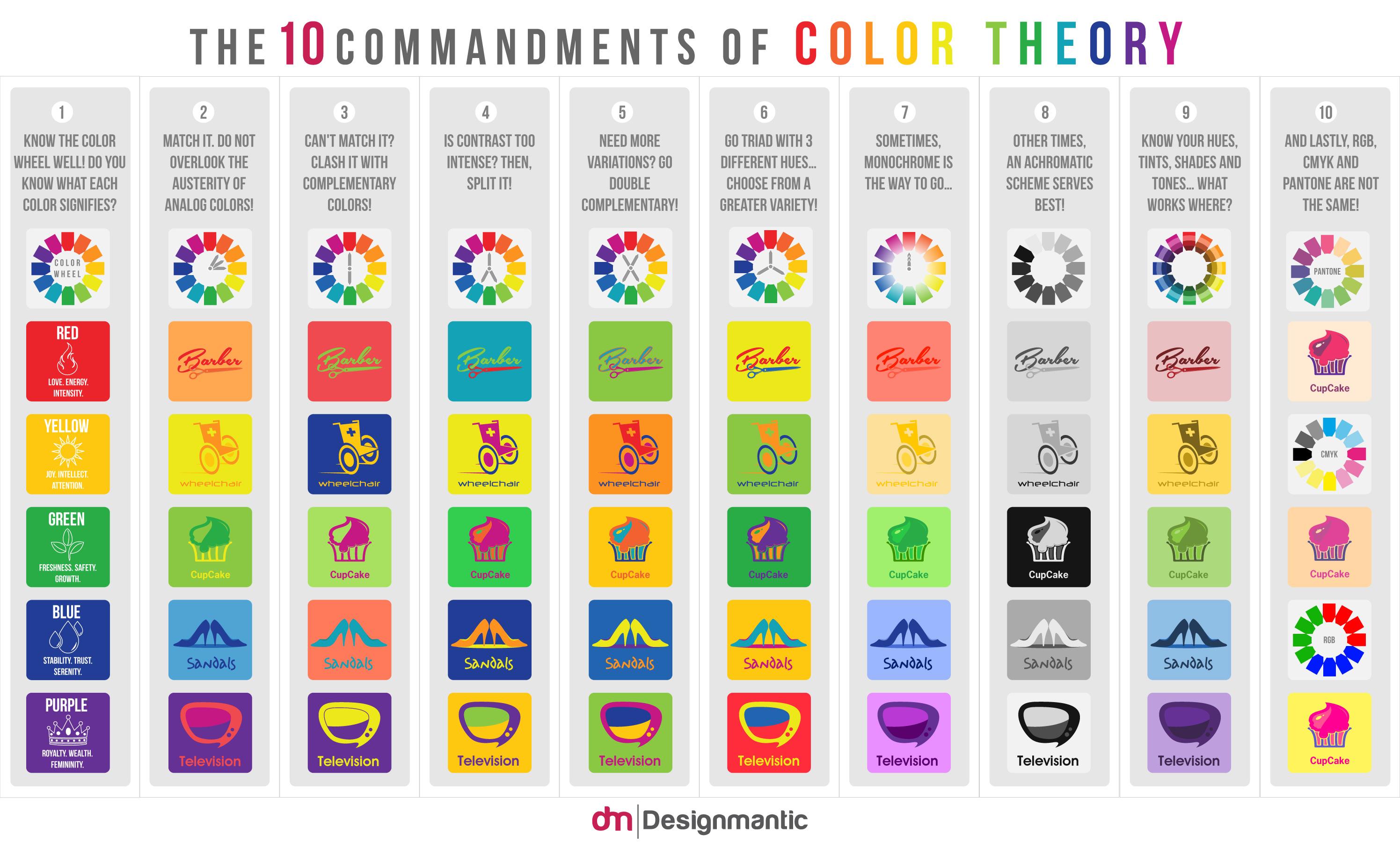 infograf u00eda  10 mandamientos de la teor u00eda del color