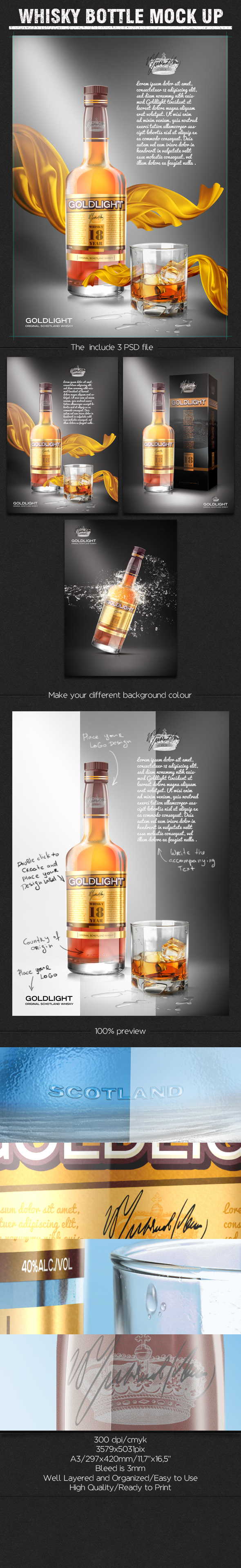 Mockup botella whisky