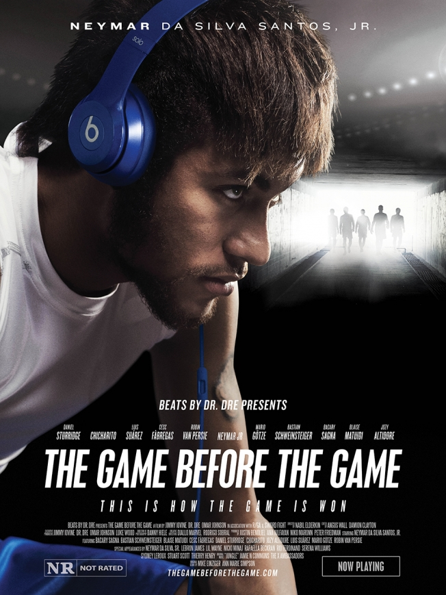 beats by dre poster neymar jr Increíble comercial de Beats by Dre protagonizado por Neymar Jr.