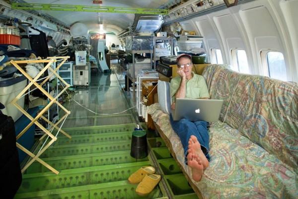 boeing 727 convertido en casa 9
