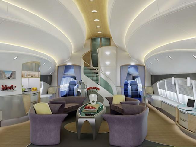 boeing 737 con interiores de lujo 1