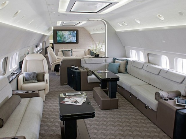 boeing 737 con interiores de lujo 4
