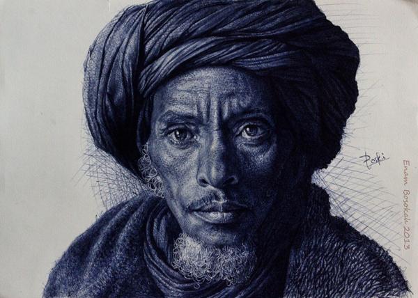 dibujos hiperrealistas Enam Bosokah 8
