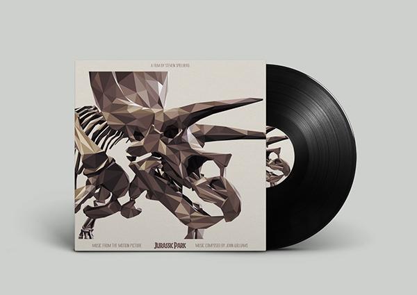 diseños portadas soundtracks poligonales 4