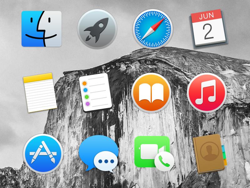 iconos Yosemite Plantillas e iconos gratis del nuevo OS X Yosemite