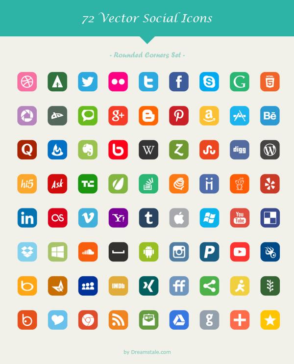 iconos redes sociales estilo 2