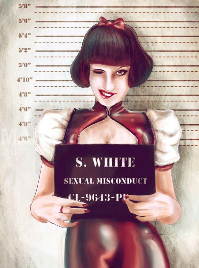 ilustraciones Marilen Adrover criminales blanca nieves