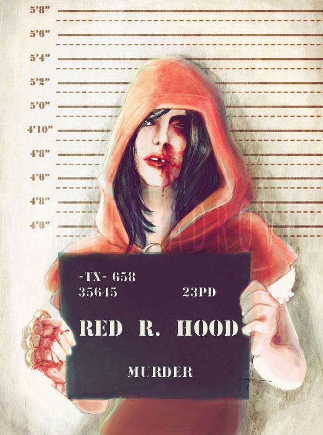ilustraciones Marilen Adrover criminales caperucita roja