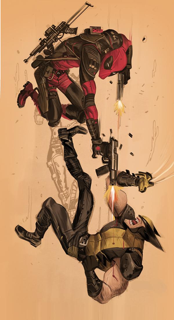 Pelea entre Deadpool vs Wolverine