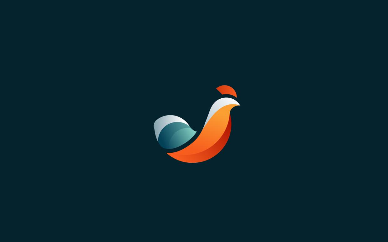 logos minimalistas animales gallo
