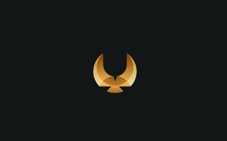 logos minimalistas animales halcon