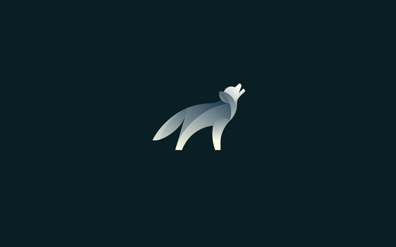 logos minimalistas animales lobo