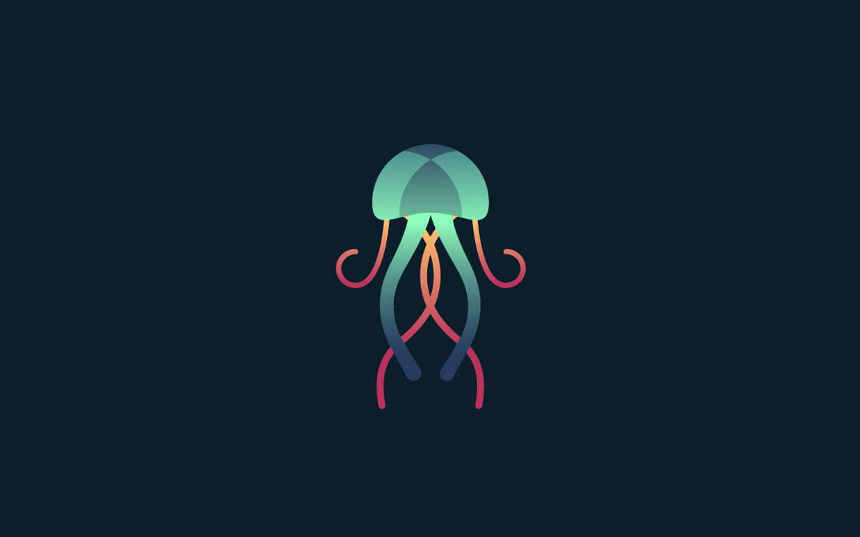 logos minimalistas animales medusa