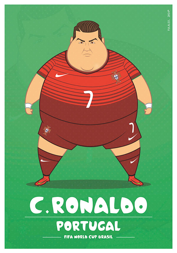 parodias futbolistas gordos cr7