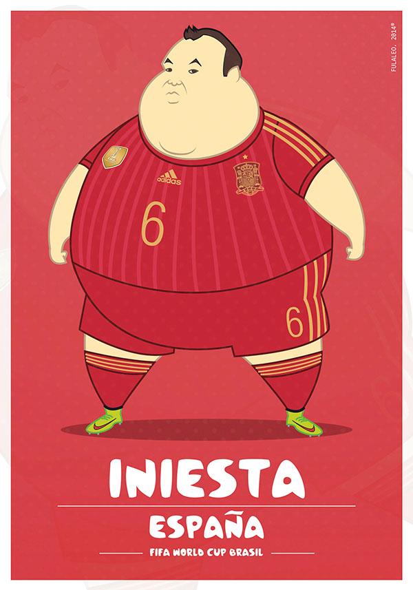 parodias futbolistas gordos iniesta