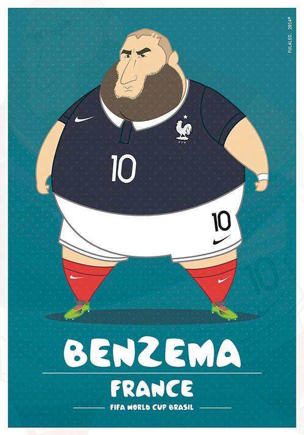 parodias futbolistas gordos karim benzema