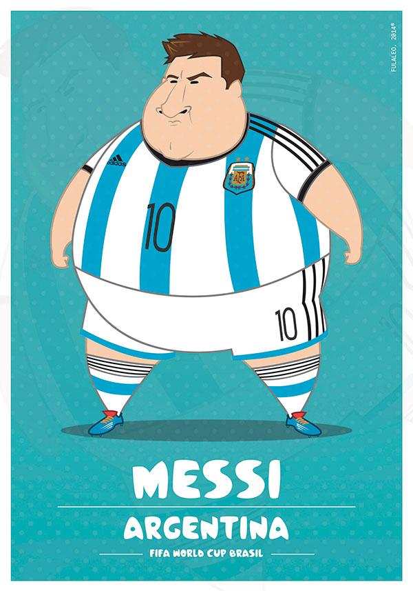 parodias futbolistas gordos lionel messi