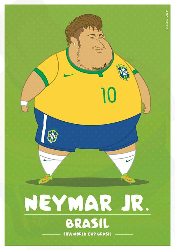 parodias futbolistas gordos neymar