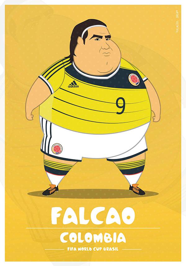 parodias futbolistas gordos radamel falcao
