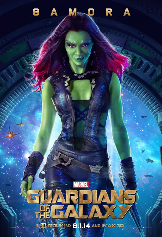 posters guardianes de la galaxia gamora