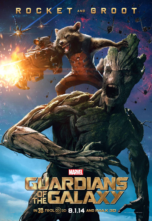 posters guardianes de la galaxia rocket and groot
