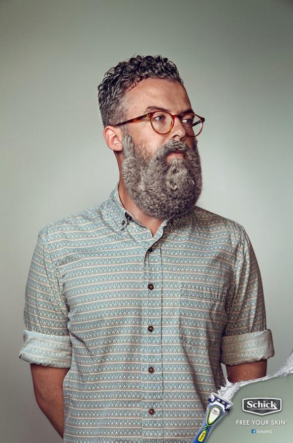 publicidad Schick barbas animales 1