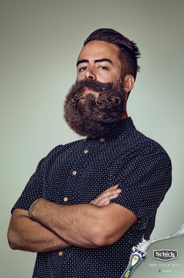 publicidad Schick barbas animales 2