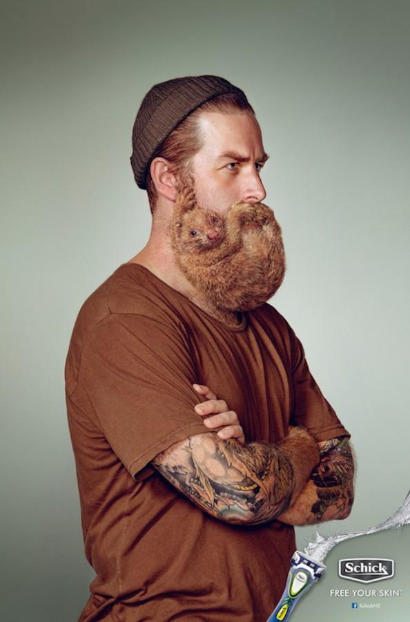 publicidad Schick barbas animales 3