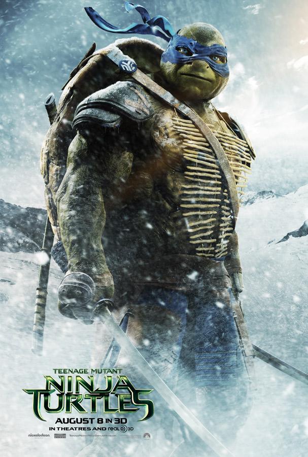 tortugas ninja posters leonardo