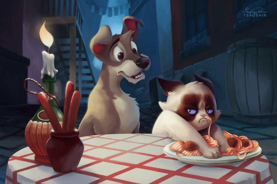 tsaoshin ilustraciones grumpy cat bella no