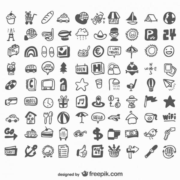Iconos diseñados a mano