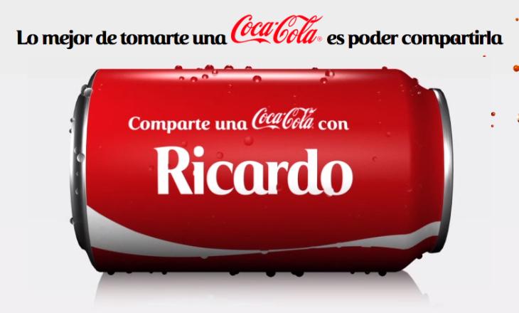 Comparte una Coca-Cola con