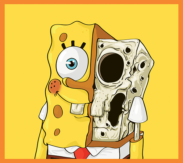 Cute Yellow Bob Esponja