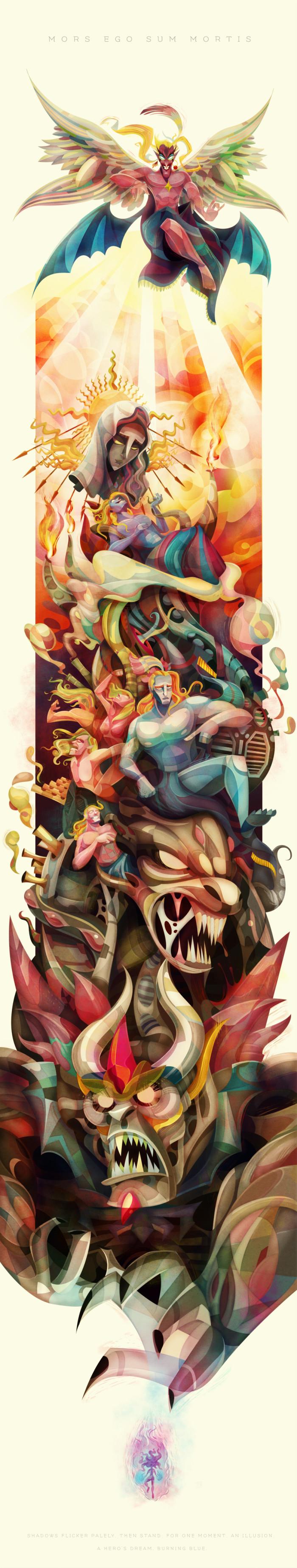 Ilustracion carlos lerma Kefka Final Fantasy VI