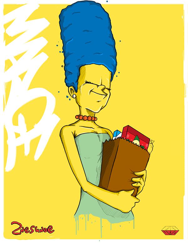 Ilustraciones Los Simpsons Margge