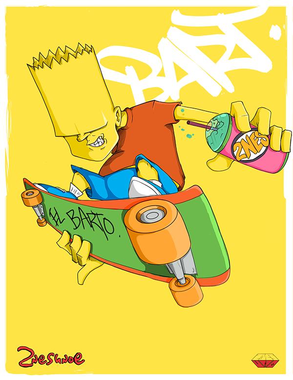 Ilustraciones Los Simpsons bart