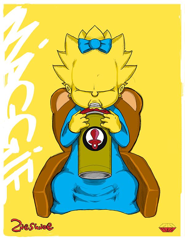 Ilustraciones Los Simpsons maggie